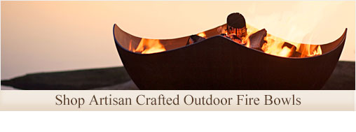 Click on this category image to shop our collection of artisan crafted outdoor fire bowls for your outdoor living area.