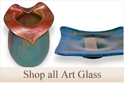 Shop our beautiful selection hand blown and hand painted art glass decor for your home