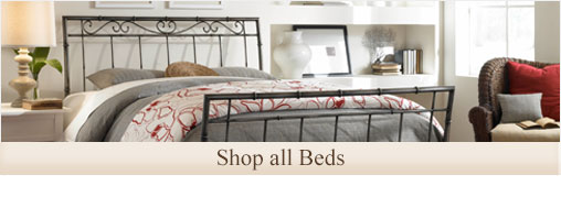 Shop the largest collection of wrought iron and metal beds for your bedroom or guestroom.