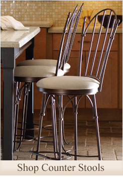 Shop our large selection of wrought iron counter stools for your home or resturaunt