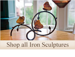 Shop our beautiful selection of decorative hand-forged wrought iron sculptures for your home