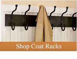 Fall is here and so is the cool, crisp fall air - Keep your jackets organized with a new iron coat rack or standing coat tree.