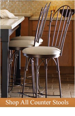 Bring comfort, style, family and friends together with luxury wrought iron counter stools
