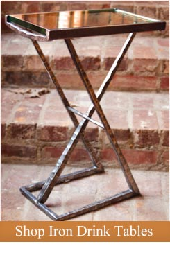 Click on this image to shop our line of iron drink tables.