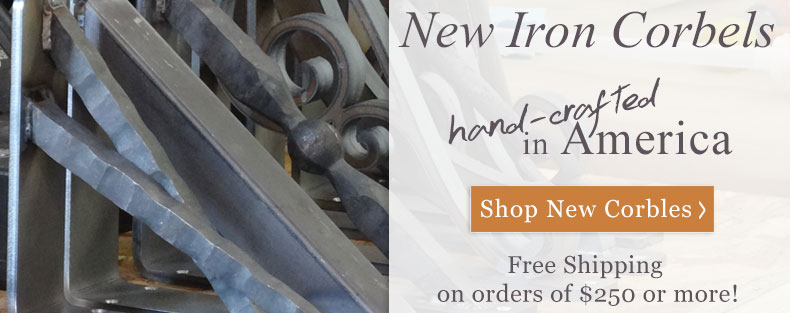 Shop our large selection of hand-made wrought iron corbels