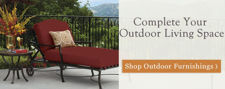 Complete your outdoor living space with quality outdoor furnishings from Timeless Wrought Iron