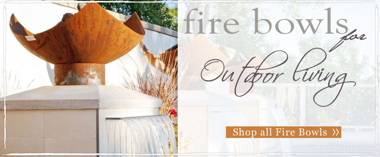 Shop our unique selection of artistically crafted outdoor outdoor firebowls for your outdoor living area this summer - Free Shipping!