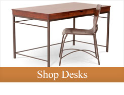 Give yourself the promise of a better work space and upgrade your home office with a beautiful iron base writing desk.