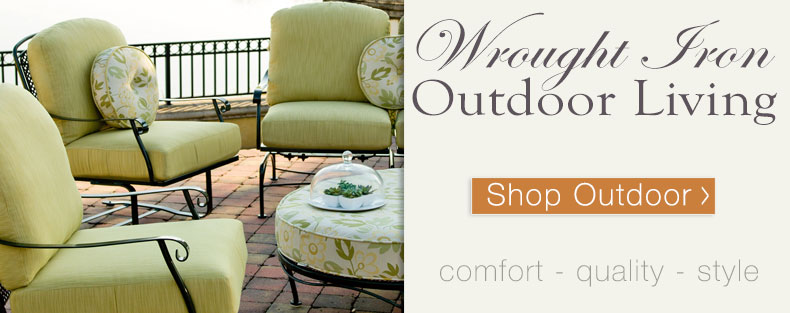 Enjoy your time outside with family and friends on comfortable wrought iron patio furniture
