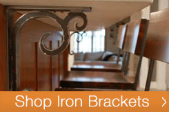 If your looking for a stylish, unique and solid way to support your natural stone counter top overhang, our Iron Brackets and Corbels are just what your looking for.