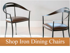 Complete your dining table with luxurious iron dining chairs designed with comfort and style in mind