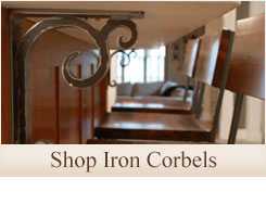 Click on this image to shop our wrought iron corbels and bracket category