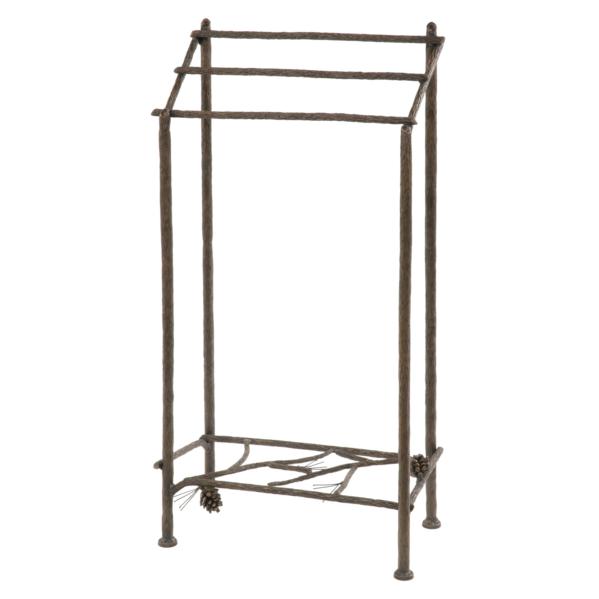 Wrought iron pine collection towel rack by stone county - Wrought iron towel racks bathroom ...