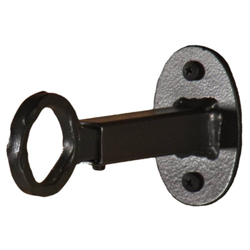 Wrought Iron Curtain Rods : Wrought Iron Single Curtain Rod Bracket by Stone County Ironworks