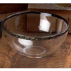 Glass Dessert Bowl with Rim 4-pack by Bella Toscana