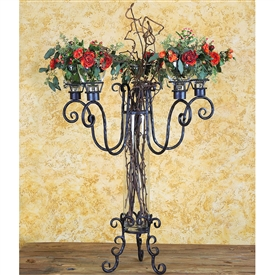 Wrought Iron Arezzo Candelabra by Bella Toscana