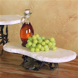 Wrought Iron Short Boulder Server by Bella Toscana