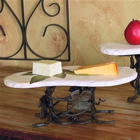 Wrought Iron Med Boulder Server by Bella Toscana