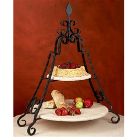 Wrought Iron Siena Event Server by Bella Toscana