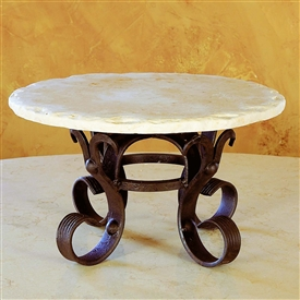 Wrought Iron Siena Raised Lazy Susan by Bella Toscana