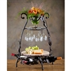Wrought Iron Wine and Cheese Party Server by Bella Toscana