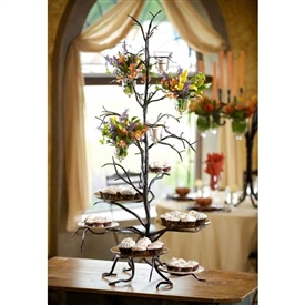 Wrought Iron Twig 6-Plate Cupcake Server by Bella Toscana