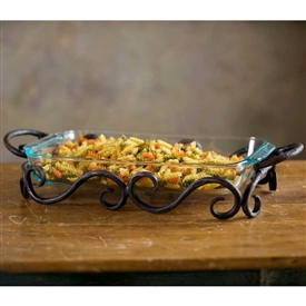Wrought Iron Siena Server - 10x15 by Bella Toscana