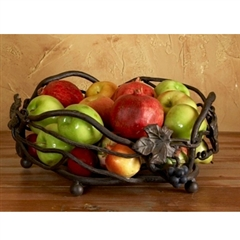 Wrought Iron Iron Fruit Basket by Bella Toscana