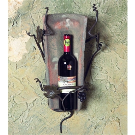Wrought Iron Tile Wall Wine Holder - 1 Bottle by Bella Toscana