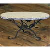 Wrought Iron Vineyard Raised Oval Marble Server by Bella Toscana