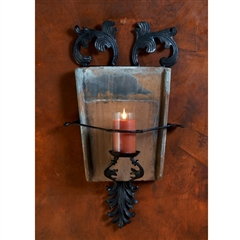 Wrought Iron Italian Tile Sconce by Bella Toscana