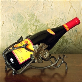 Wrought Iron Wine Bottle Cradle by Bella Toscana