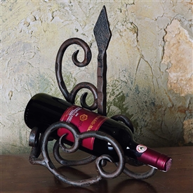Wrought Iron Siena Wine Bottle Cradle by Bella Toscana