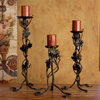 Wrought Iron Vineyard Candlesticks Set of 3 by Bella Toscana