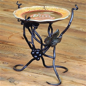 Wrought Iron Vineyard 8in Raised Plate Server by Bella Toscana