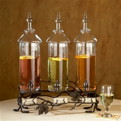 Wrought Iron Vineyard Triple Beverage Server by Bella Toscana