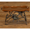 Wrought Iron Rust Tall Serving Tray by Bella Toscana