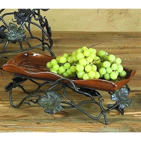 Pictured here is the Vineyard Rust Short Serving Tray by Bella Toscana