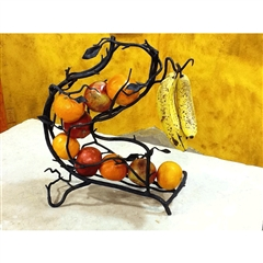 Wrought Iron Fruitwood Fruit Spiral by Bella Toscana
