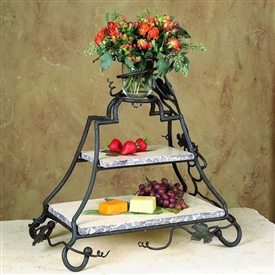 Wrought Iron Rectangle Event Server by Bella Toscana