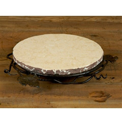 Wrought Iron Marble Lazy Susan - Small by Bella Toscana