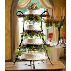 Wrought Iron Vineyard 4-Tier Event Server by Bella Toscana