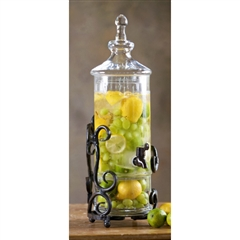 Wrought Iron Siena 2-Tier 2-Gal Beverage Server by Bella Toscana