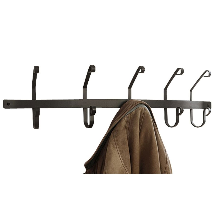 Pictured here is the wall mounted wrought iron coat rack Wall coat hanger