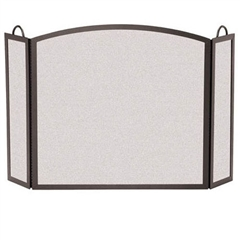 Wrought Iron 3 Panel Center Arch Fireplace Screen - 8 Side Width by Pilgrim