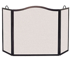 Wrought Iron 3 Panel Camelback Arch Fireplace Screen - 12 Side Width by Pilgrim