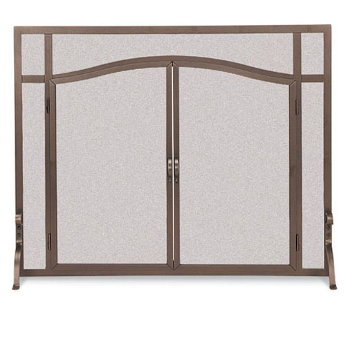 Pictured Here Is The Wrought Iron Flat Fireplace Screen