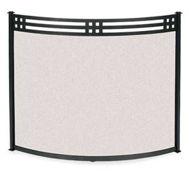 Wrought Iron Bowed Portfolio Fireplace Screen by Pilgrim