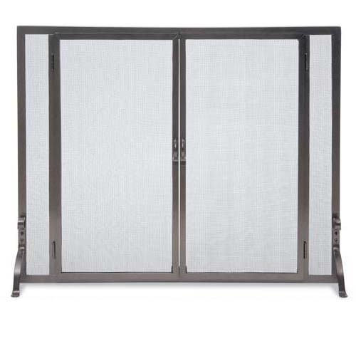 here is the wrought iron flat fireplace screen with full height
