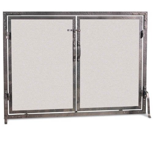 Old World Flat Fireplace Screen With Doors 42 W X 31 H